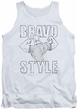 Johnny Bravo tank top Bravo Style mens white