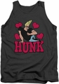 Johnny Bravo tank top Hunk mens charcoal