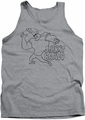 Johnny Bravo tank top Jb Line Art mens athletic heather