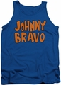 Johnny Bravo tank top Jb Logo mens royal blue