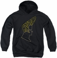 Johnny Bravo youth teen hoodie Bravo Hair black