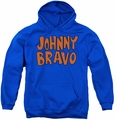 Johnny Bravo youth teen hoodie Jb Logo royal blue