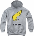 Johnny Bravo youth teen hoodie Johnny Hair athletic heather