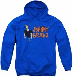 Johnny Bravo youth teen hoodie Johnny Logo royal blue
