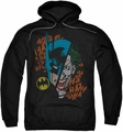 Joker Batman pull-over hoodie Broken Visage adult black