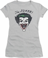 Joker juniors t-shirt Retro Joker silver