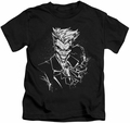 Joker kids t-shirt Splatter Smile black