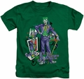 Joker kids t-shirt Wild Cards kelly green