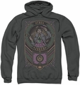Joker pull-over hoodie Checkered Sign adult charcoal