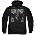 Joker pull-over hoodie Insanity adult black