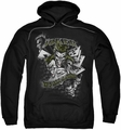 Joker pull-over hoodie Its All A Joke adult black