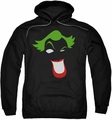 Joker pull-over hoodie Simplified adult black