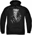 Joker pull-over hoodie Splatter Smile adult black
