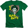 Joker slim-fit t-shirt I Heart Bad Boys 2 mens kelly green