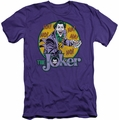Joker slim-fit t-shirt Portrait mens purple