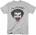 Joker t-shirt Retro Joker mens silver