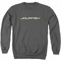 Journey adult crewneck sweatshirt Logo charcoal