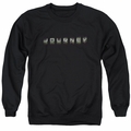 Journey adult crewneck sweatshirt Repeat Logo black