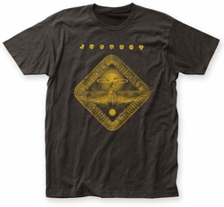 Journey Gold Departure mineral wash adult tee black mens pre-order