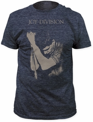 Joy Division ian curtis fitted jersey tee heather navy
