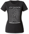 Joy Division Unknown Pleasures juniors crew black womens pre-order