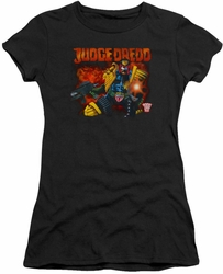 Judge Dredd juniors t-shirt Through Fire black