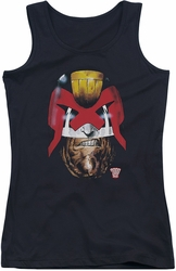 Judge Dredd juniors tank top Dredd's Head black