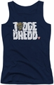 Judge Dredd juniors tank top Logo navy