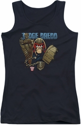 Judge Dredd juniors tank top Smile Scumbag black