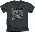Judge Dredd kids t-shirt Fenced charcoal