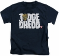 Judge Dredd kids t-shirt Logo navy