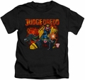 Judge Dredd kids t-shirt Through Fire black