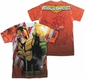Judge Dredd mens full sublimation t-shirt Democracy