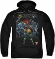 Judge Dredd pull-over hoodie Behind You adult black