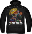 Judge Dredd pull-over hoodie Bike and Badge adult black