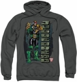 Judge Dredd pull-over hoodie Blam adult charcoal