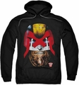 Judge Dredd pull-over hoodie Dredd's Head adult black