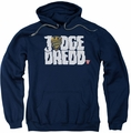 Judge Dredd pull-over hoodie Logo adult navy