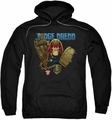 Judge Dredd pull-over hoodie Smile Scumbag adult black