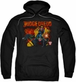 Judge Dredd pull-over hoodie Through Fire adult black