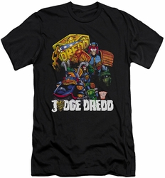 Judge Dredd slim-fit t-shirt Bike And Badge mens black