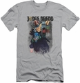 Judge Dredd slim-fit t-shirt Last Words mens silver