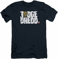 Judge Dredd slim-fit t-shirt Logo mens navy