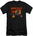 Judge Dredd slim-fit t-shirt Through Fire mens black