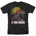 Judge Dredd t-shirt Bike And Badge mens black