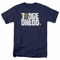 Judge Dredd t-shirt Logo mens navy