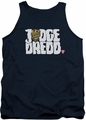 Judge Dredd tank top Logo mens navy