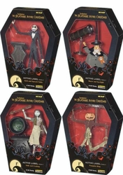Jun Planning Nightmare Before Christmas Jack Sally Active Label Figure Set of 4