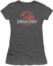 Jurassic Park juniors t-shirt Faded Logo charcoal