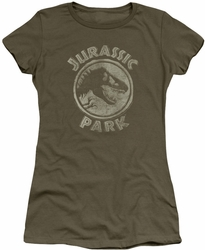 Jurassic Park juniors t-shirt JP Stamp military green